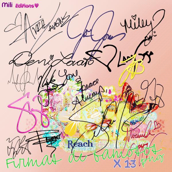 Firmas de famosos png by MiliMacchi