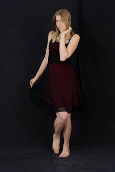 Red and Black Dress Stock