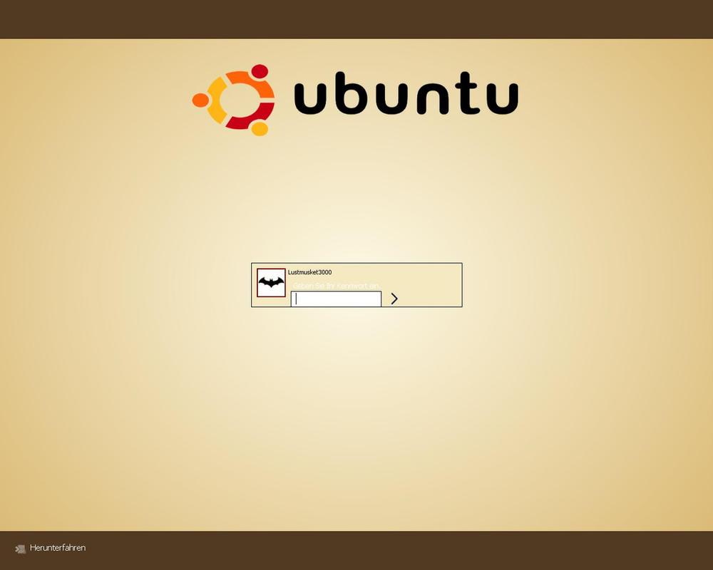 Ubuntu Logon by Lustmusket3000