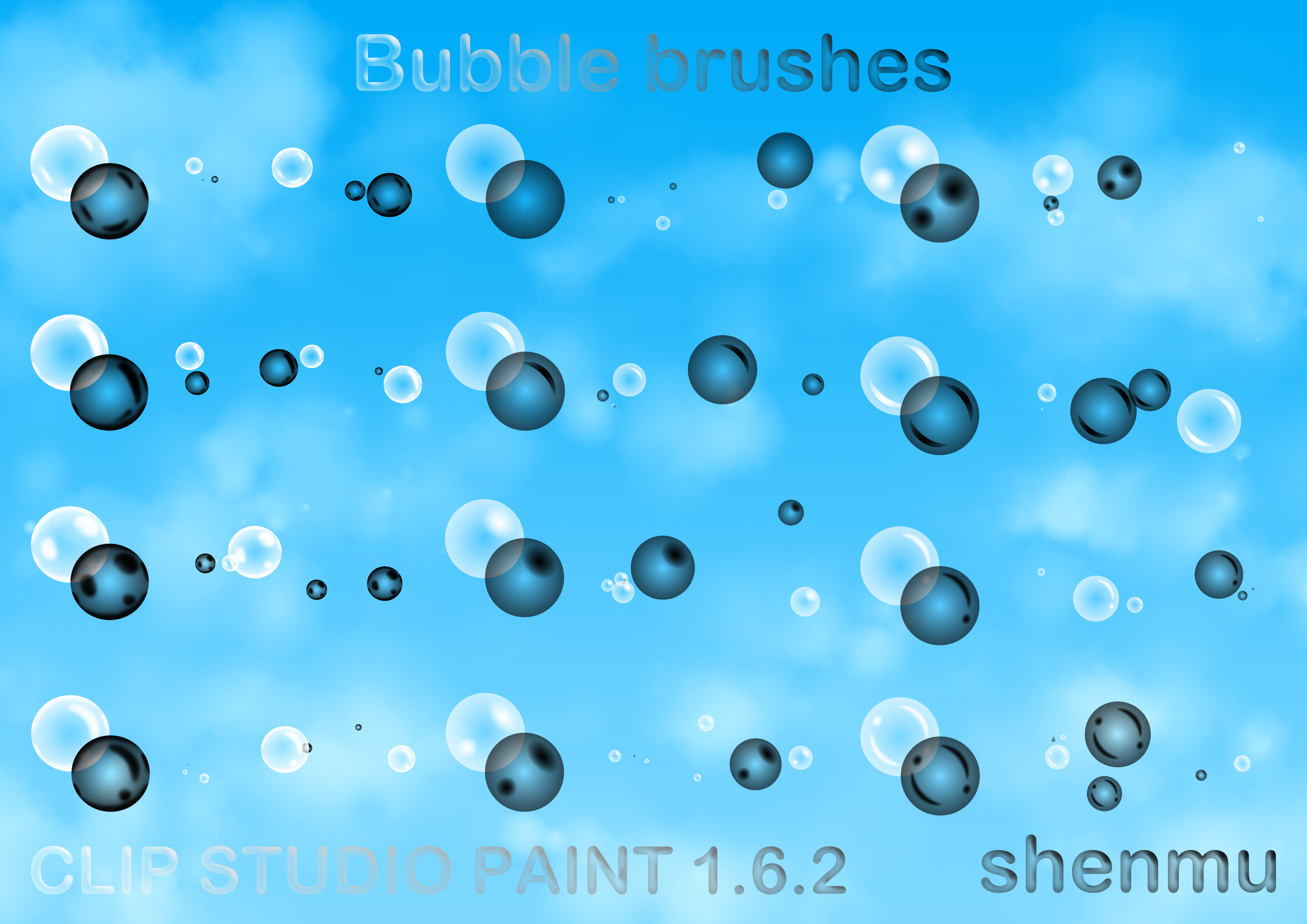 two color bubble brushes by hong hui lin shenmu on deviantart