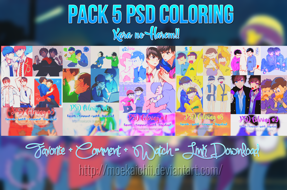 Pack PSD Coloring - Happy 30/4 and 1/5. by MoeKaichii