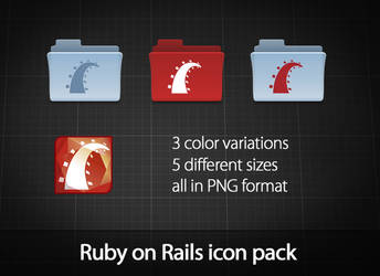 Ruby on Rails icon pack by azizash
