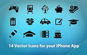 14 vector icons 4 iPhone Apps by azizash