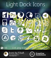 Light Dock Icons by Fi3uR