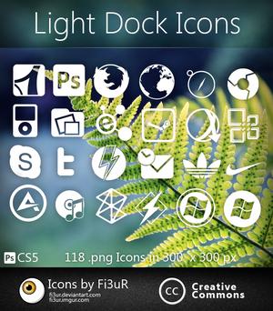 Light Dock Icons