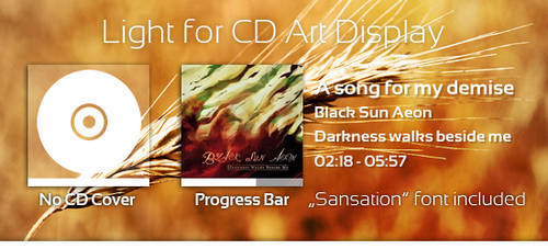 Light CD Art Display Skin