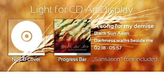 Light CD Art Display Skin by Fi3uR