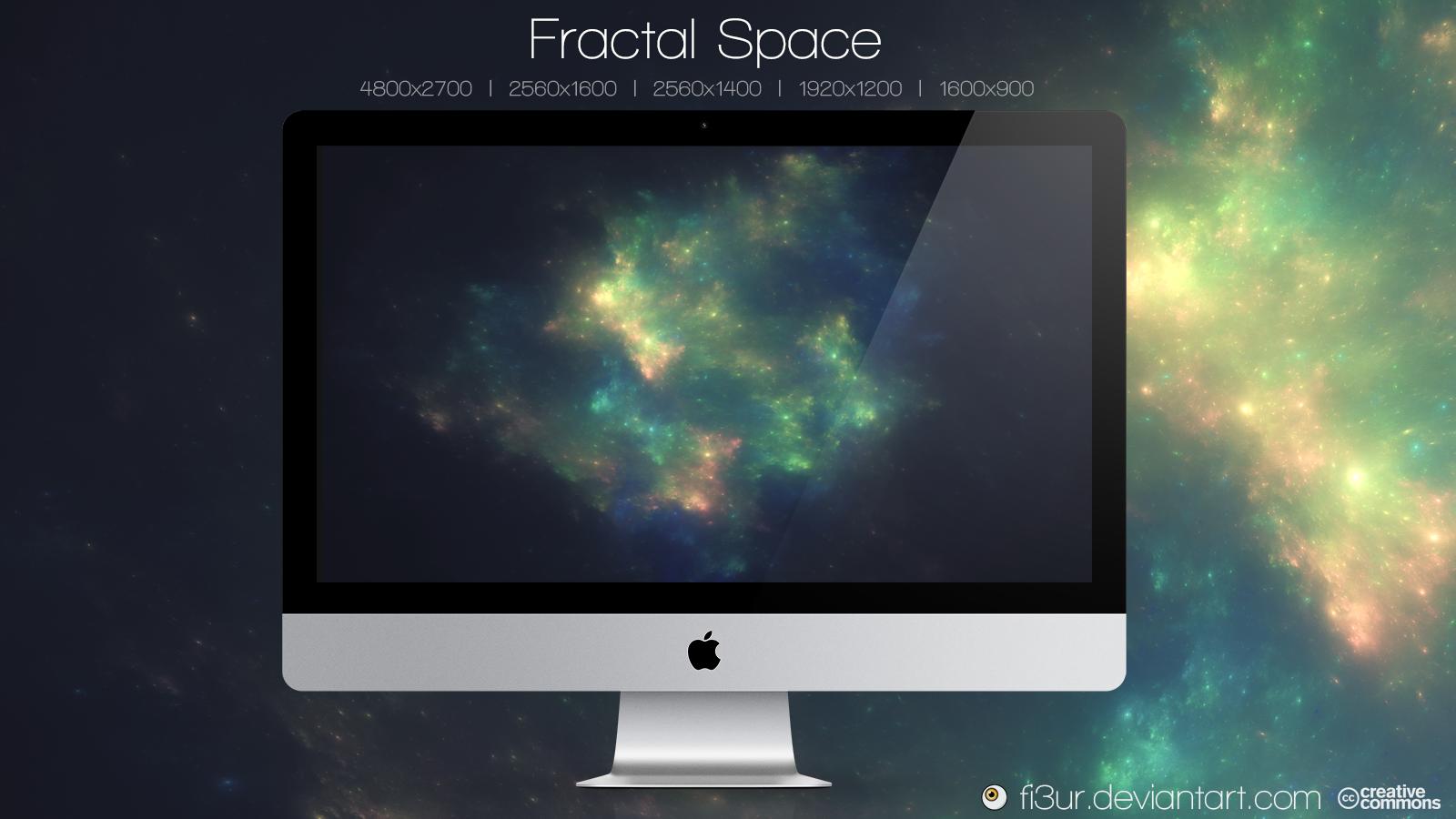 Fractal Space Wallpaper by Fi3uR