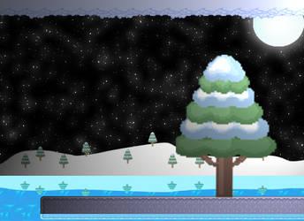 Beatiful snowy night by Tkscz