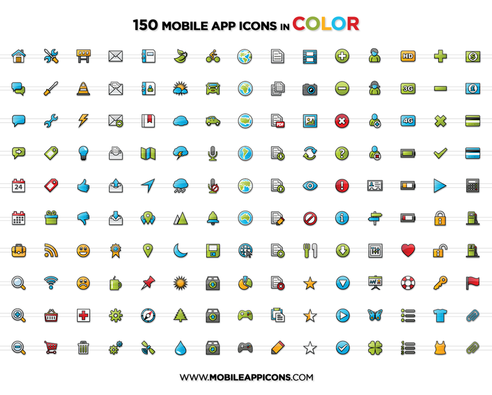 Coloring by numbers for seniors app - Mobile App Icons In Color By Yt458