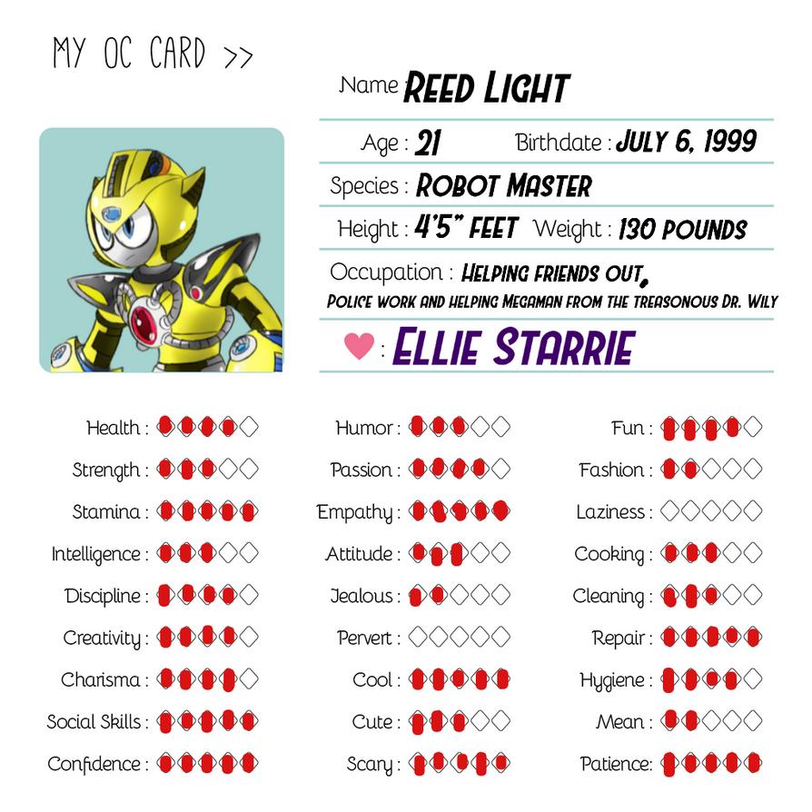 Reed's OC Card X3 by JSMRACECAR03