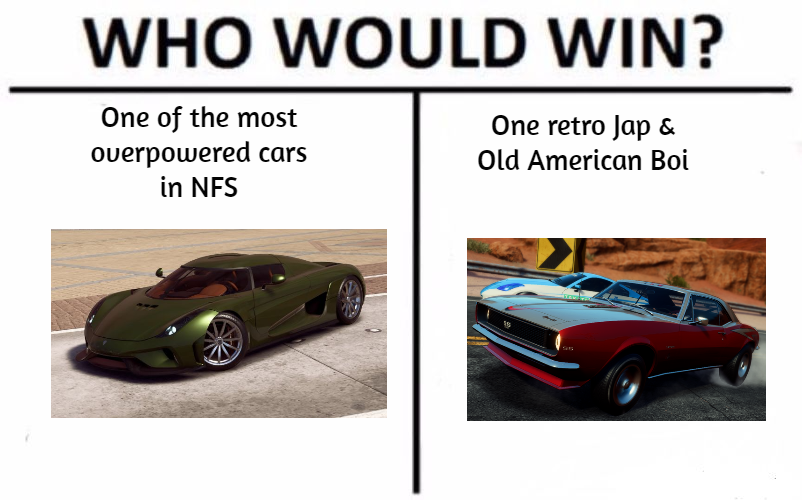 A Who would win meme by JSMRACECAR03