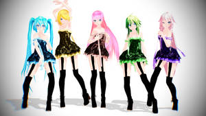 TDA Vocaloid Girls Pack Download!! by KiiroKitsune99