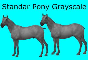 CC0 - Standar Pony Grayscale