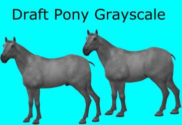 CC0 - Draft Pony Grayscale