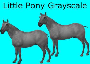 CC0 - Little Pony Grayscale
