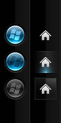 W7Orb Blue and Home +Start Orb