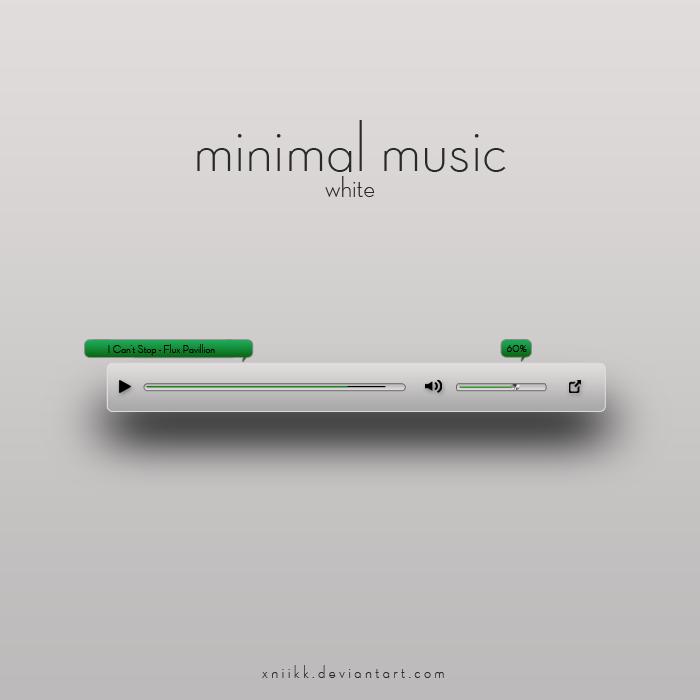 minimal music white
