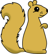 Sitting Squirrel 1 by valsgalore