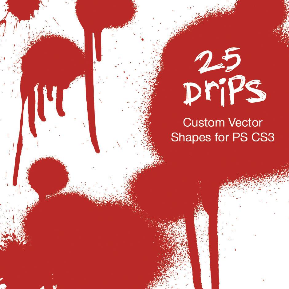 25 Drips - Custom PS CS3 Shape by SynergyDigital