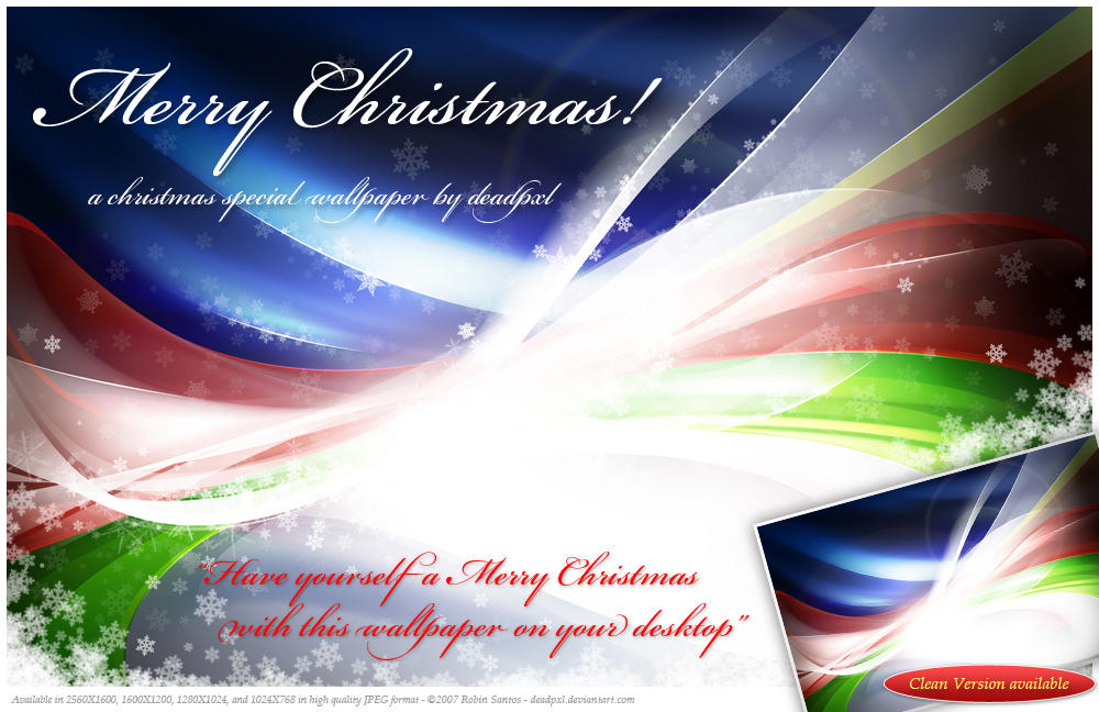 Merry Christmas Wallpaper by deadPxl