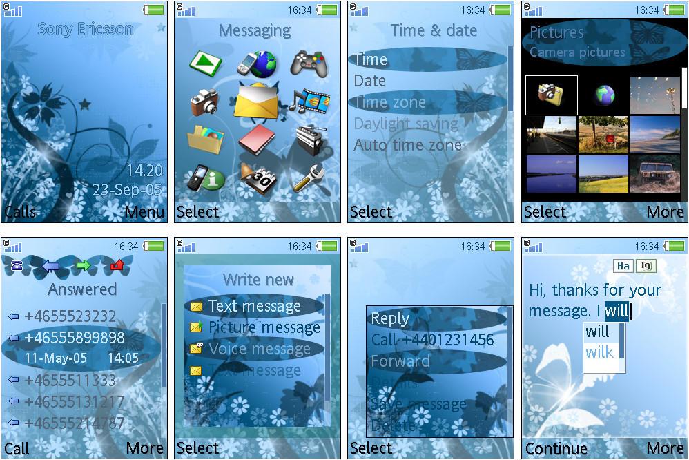 Theme for Sony Ericsson w580i by karolina95 on DeviantArt