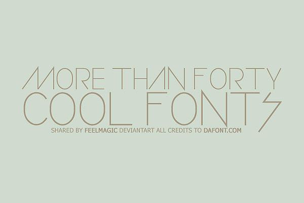 Cool Fonts by feelmagic