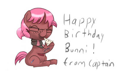 For the Birthday Bunni IN COLOR