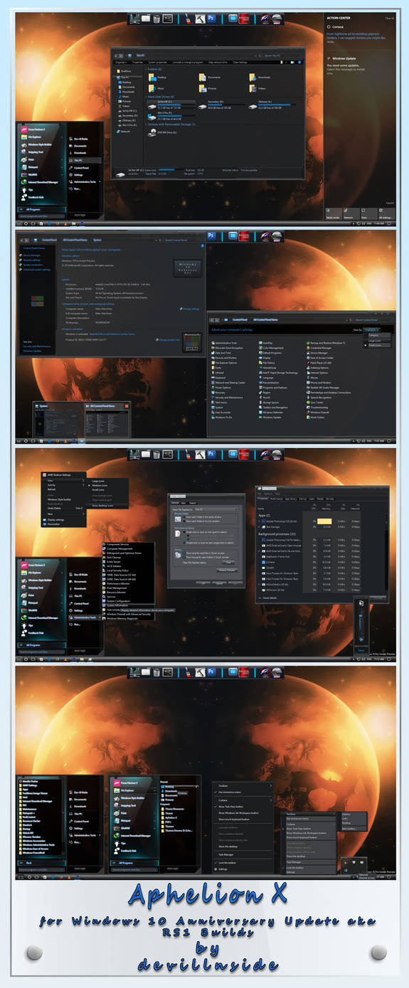 Carbon X for Windows 10 RS1