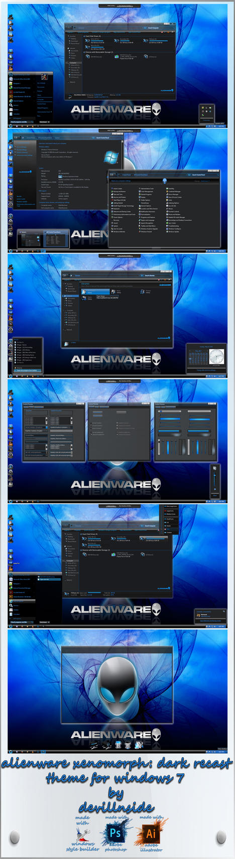 Alienware Xenomorph: Dark Recast by devillnside
