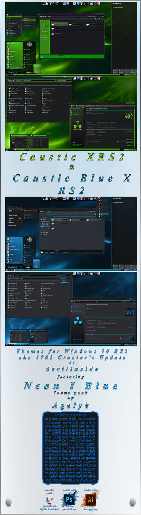 Caustic Series.... Caustic XRS2+Caustic Blue X RS2 For Windows 10