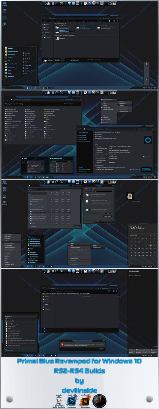Primal Blue Revamped X For Windows 10 RS2-RS4