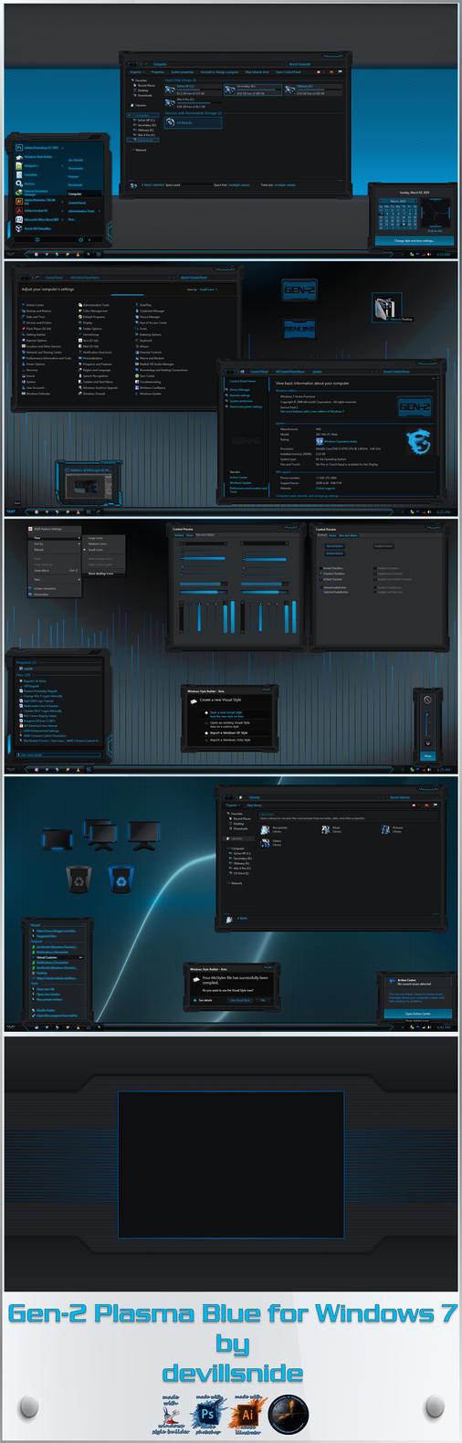 Gen-2: Plasma Blue Windows 10 Edition RS5