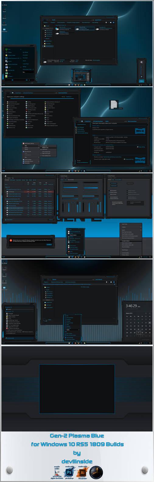 Gen-2: Plasma Blue Windows 10 Edition by devillnside