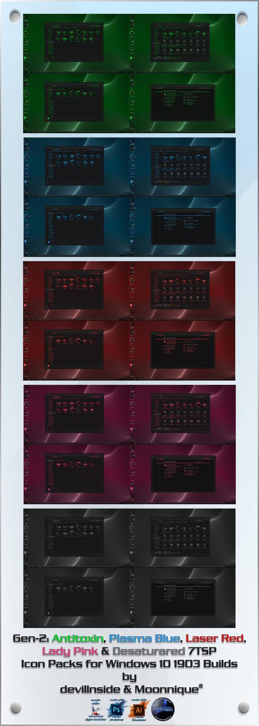 Gen-2 Series 7TSP Icon Packs for Windows 10 1903+