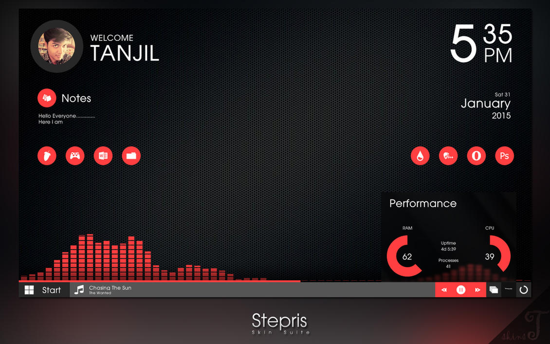 Updated Stepris V1 3 For Rainmeter By T Projects On