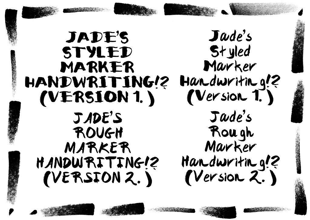 Jade's Marker Fonts by JadeGordon