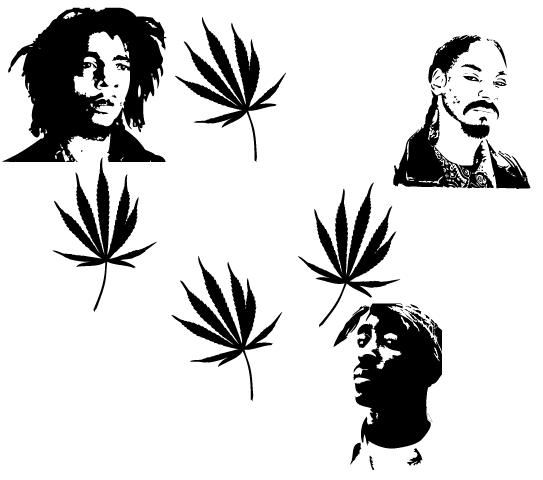 Marley Snoop Tupac Vector By Caponehun On DeviantArt