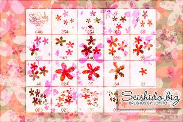 FREE Distressed Flower Brushes by seishido