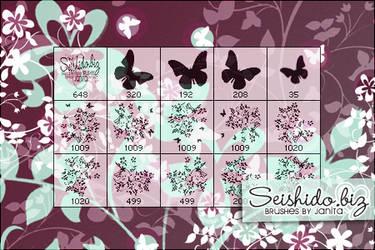 FREE Swirly Flower Brushes by seishido