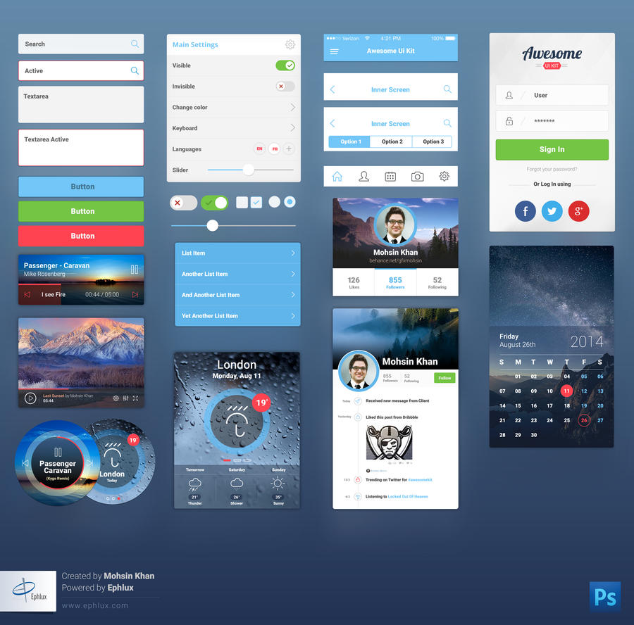 Awesome-Mobile-UI by Ephlux