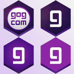4 GOG Galaxy Honeycomb buttons