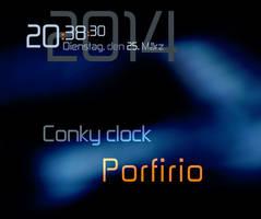 Conky Porfirio Clock by theMuspilli