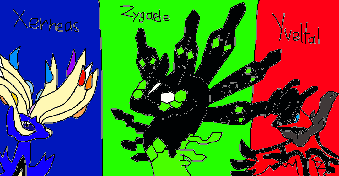 Xerneas,Yveltal,and Zygarde by Moondarkspirit on DeviantArt Xerneas Yveltal Zygarde Wallpaper