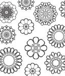 Pencil Flower PS brushes