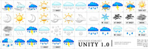 Weather Icon Set Unity 1.0 by Rago