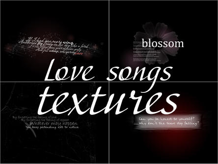 Text textures - Love Songs