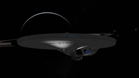 USS Phobos Saturn Flypast