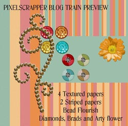Pixel Scrapper Blog Train December by JackandHolly
