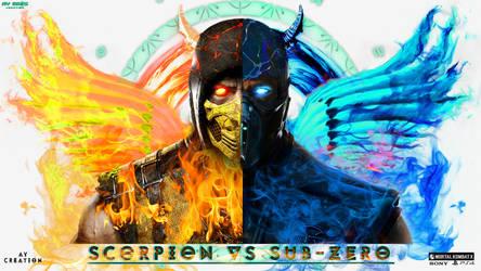 Mortal Kombat XL ( scorpion Vs Sub-zero )_PSD by aman150611